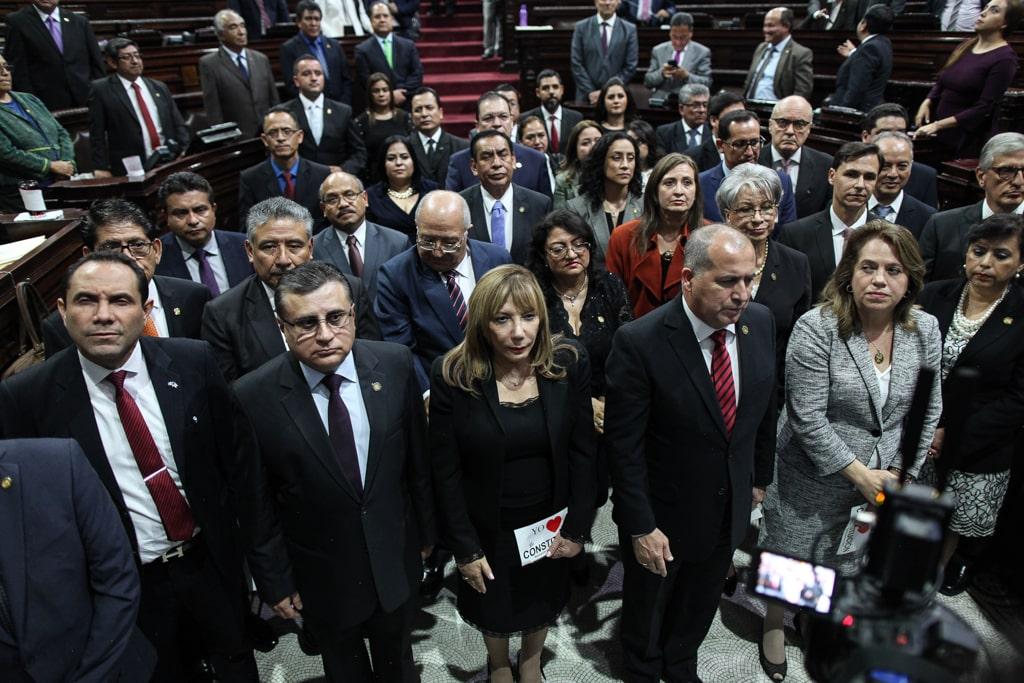 Miembros de la comisión de postulación para Corte de Apelaciones, presidida por el rector Murphy Paiz, de la USAC.