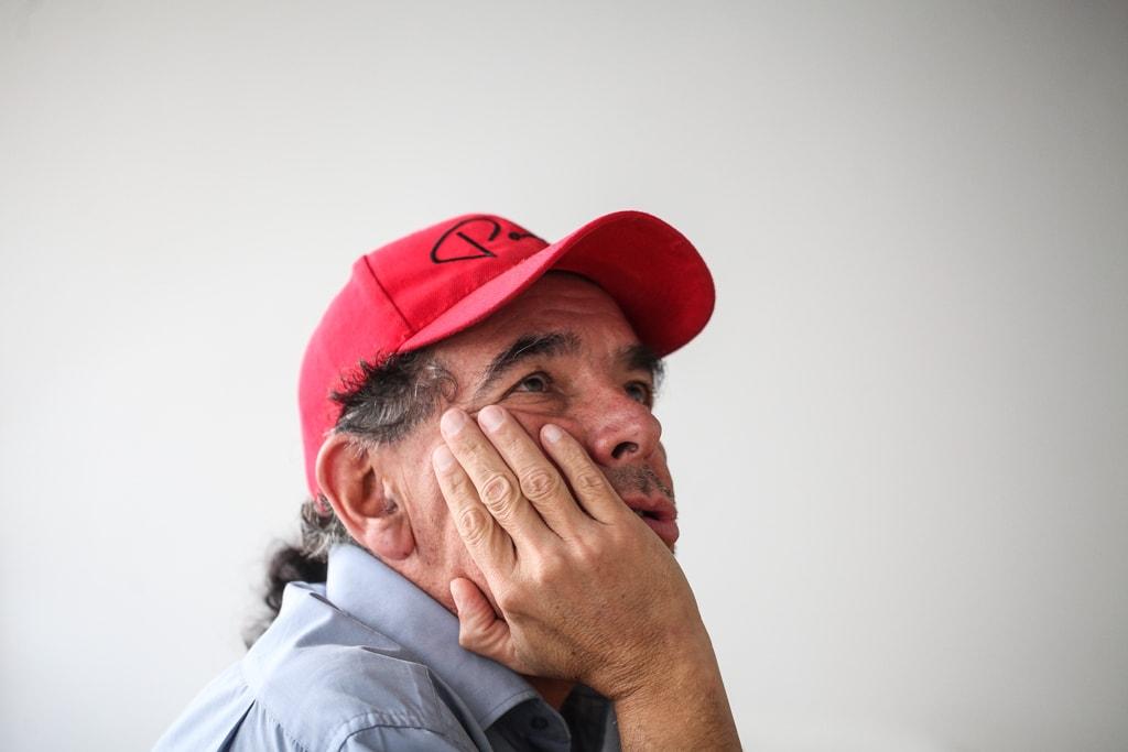 Paulo Alvarado, en entrevista con Nómada. Foto: Carlos Sebastián