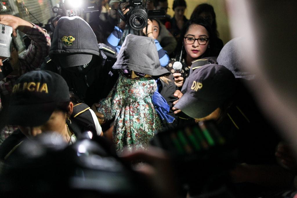 Sandra Torres a su llegada a la Torre de Tribunales.