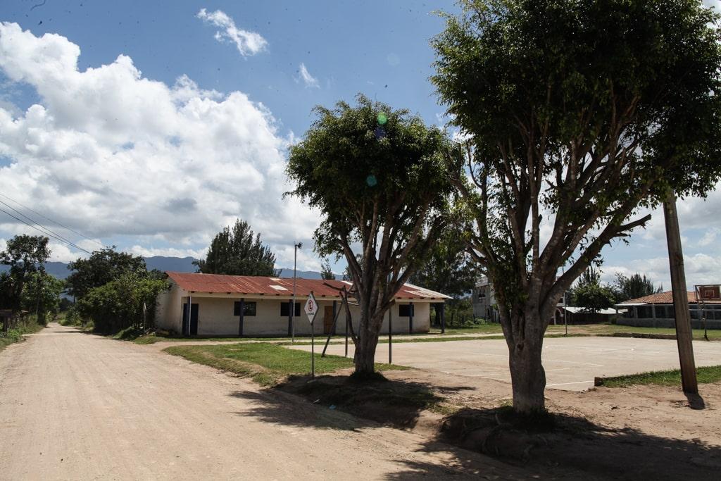 Aldea Estanzuela, Joyabaj. Lugar donde se realiza la feria cada mes de junio.