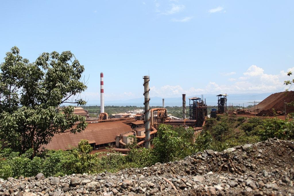 Instalaciones de la mina CGN en el Estor, Izabal.
