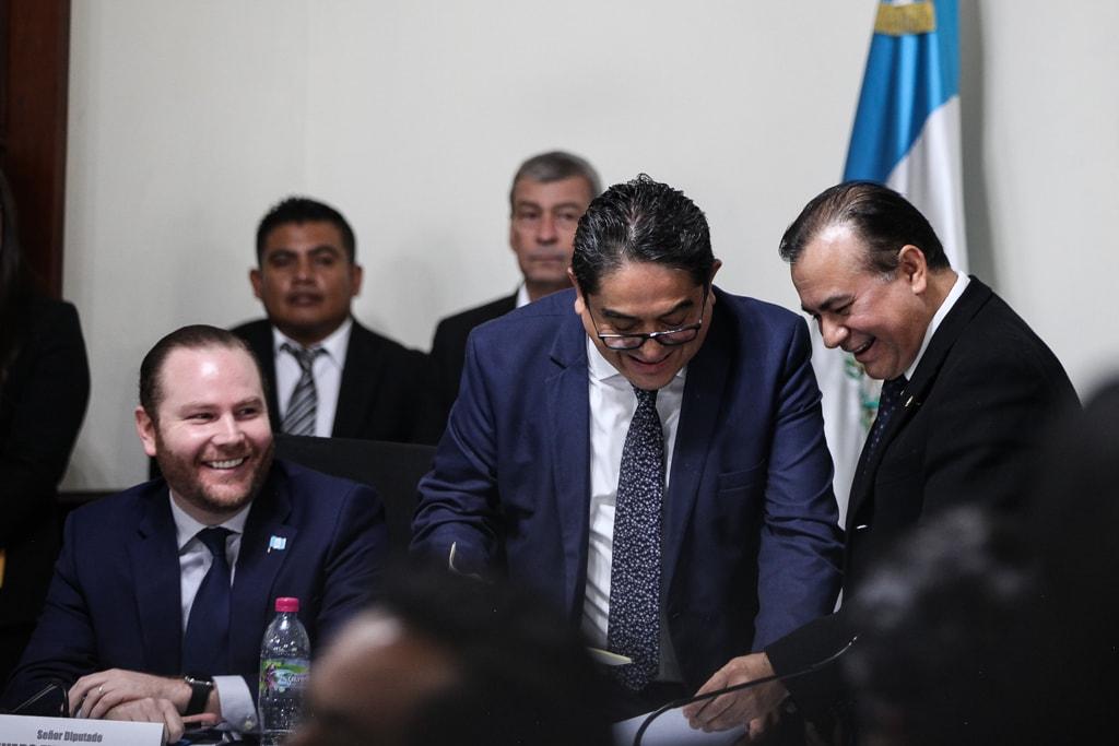 Alvaro Arzú Escobar, Jordán Rodas y Aníbal Rojas.