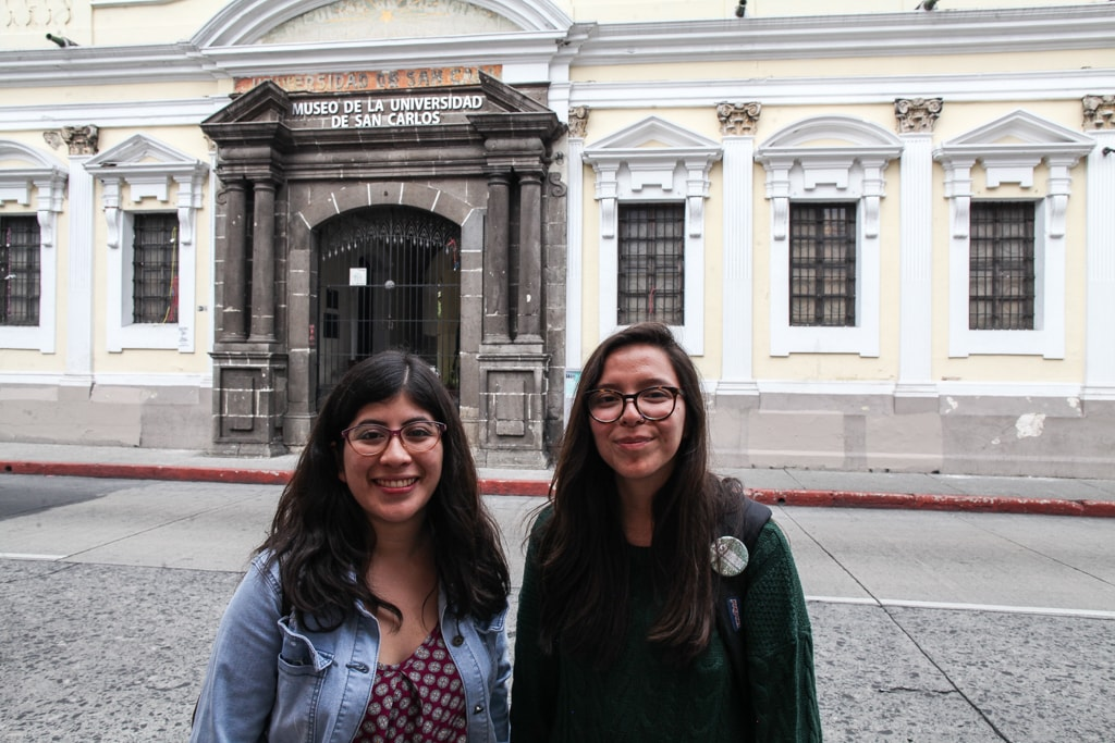 García y Rodríguez, frente al MUSAC. Foto: Carlos Sebastián