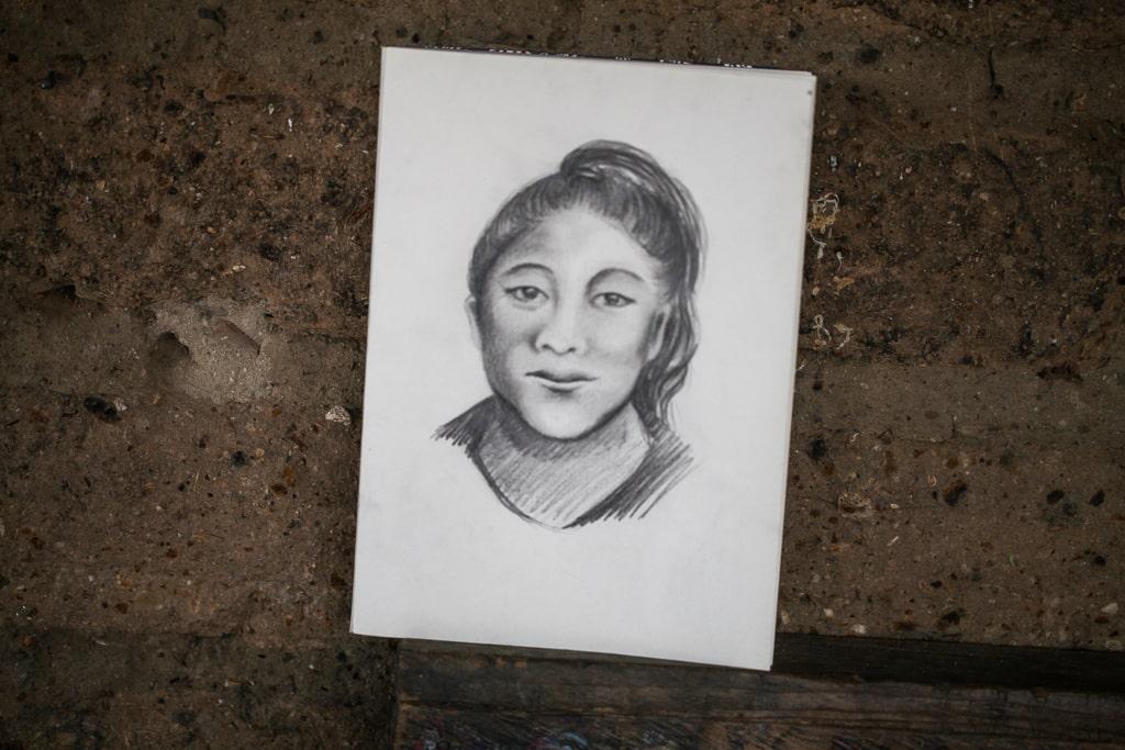 Este es un retrato hablado de Rosa María, se le entregó a la mamá para que tuviera un recuerdo de su hija.