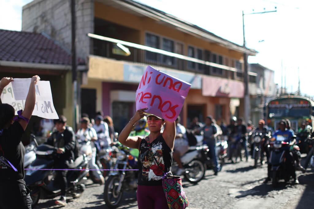 Protesta contra la violencia que sufren las mujeres. Foto: Sandra Sebastián