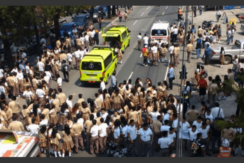 El día del incidente, Jabes Meda rompió el bloqueo con su automóvil y arrolló a los estudiantes que manifestaban. Foto: Soy502