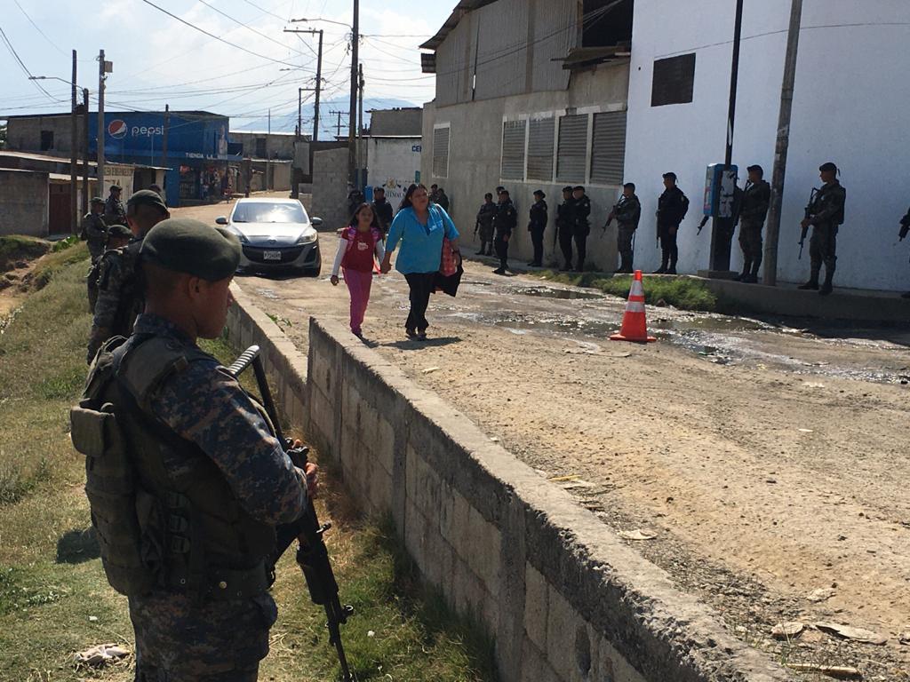 Patrullajes y presencia militar en las colonias de Villa Nueva a partir del viernes 24 de enero y por los próximos seis días. Foto: Carlos Sebastián