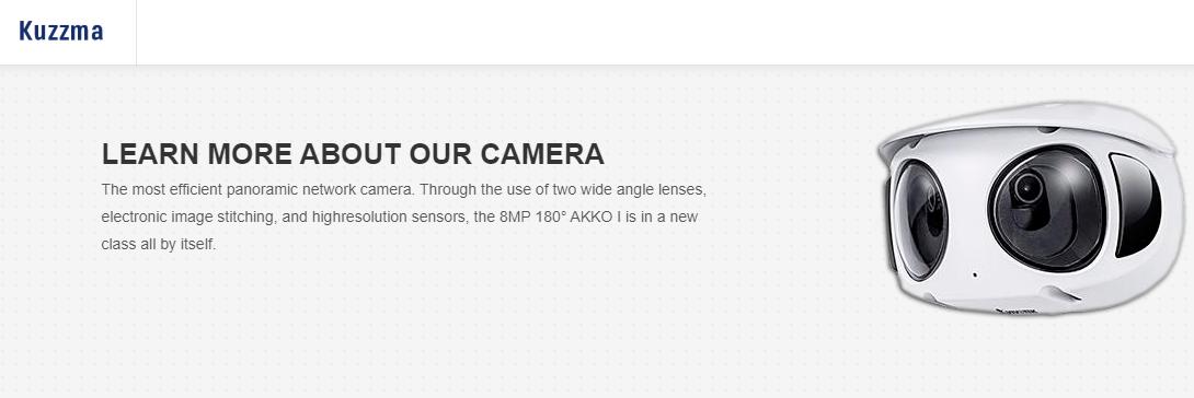 Esta es la cámara panorámica para el reconocimiento facial ofrecido por Kuzzma.