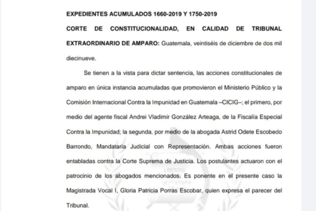 Expediente promovido por Gloria Porras.
