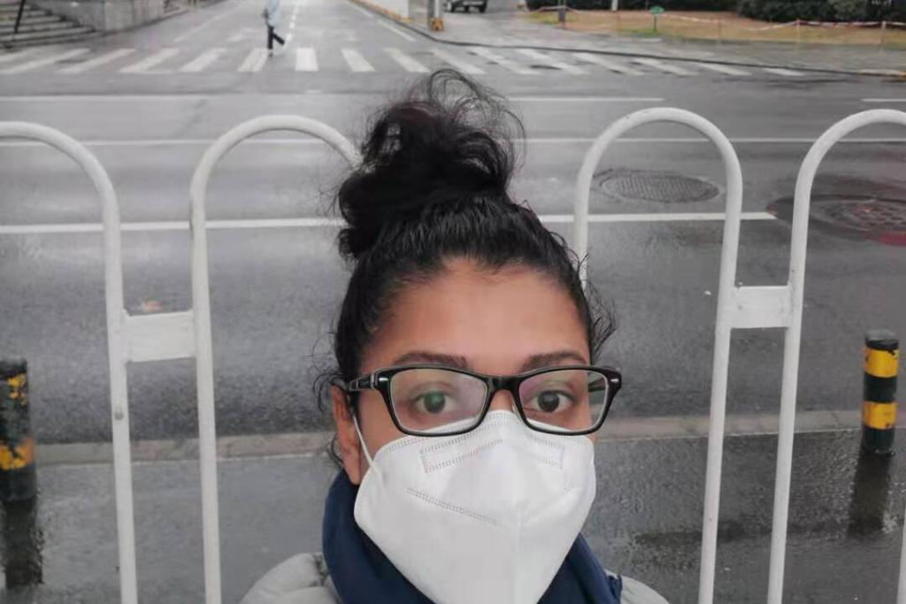 La guatemalteca explica cómo se vive la emergencia en Wuhan, la ciudad foco de la emergencia sanitaria por el coronavirus. Foto: Celia Esquivel