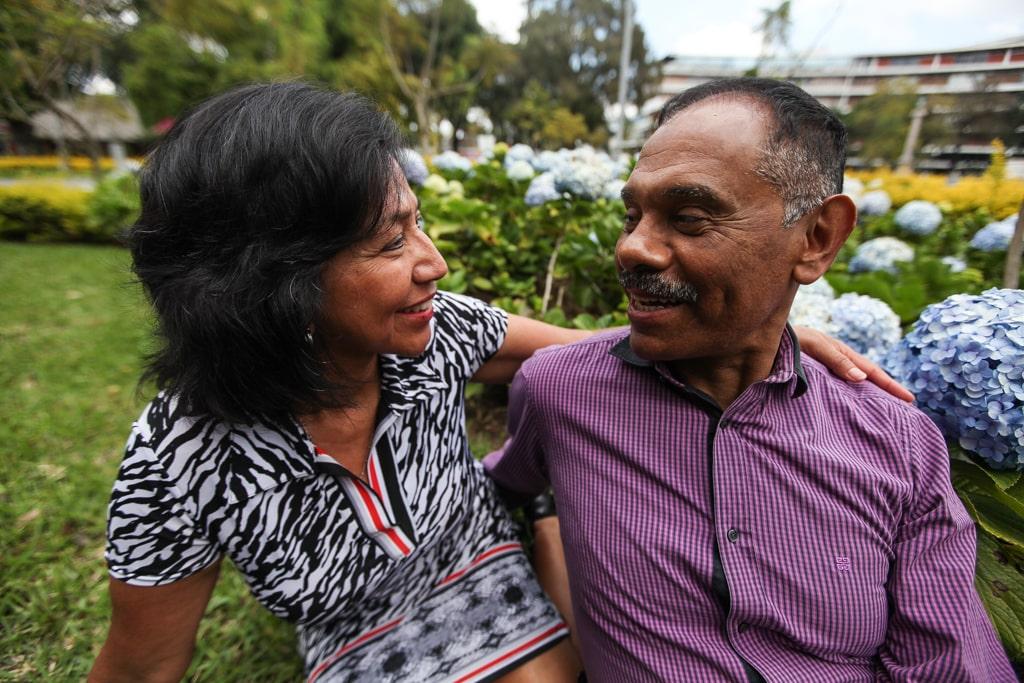 Ana y Raúl se hicieron novios poco antes del terremoto en 1976.