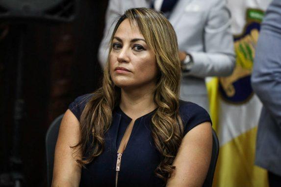 Nadia de León, presidenta del Parlacen.