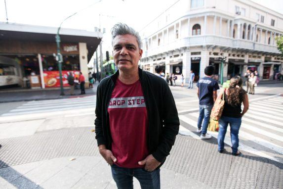 Oscar Carrión, en la zona 1 de Guatemala.