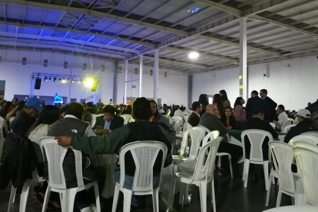 Vista del Forum Majadas el día de la fiesta de Neto Bran. Hubo música, comida y bebidas.