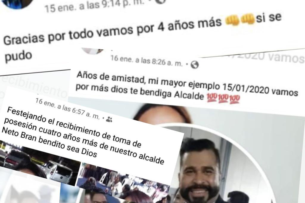 Algunas personas publicaron en facebook selfis y mensajes que confirmaron la fiesta del alcalde mixqueño.