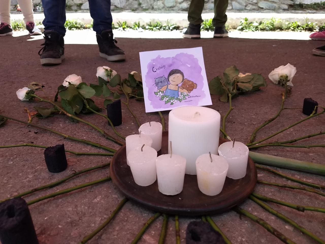 Un altar en honor a la niña. Foto: Sororidad Guatemala