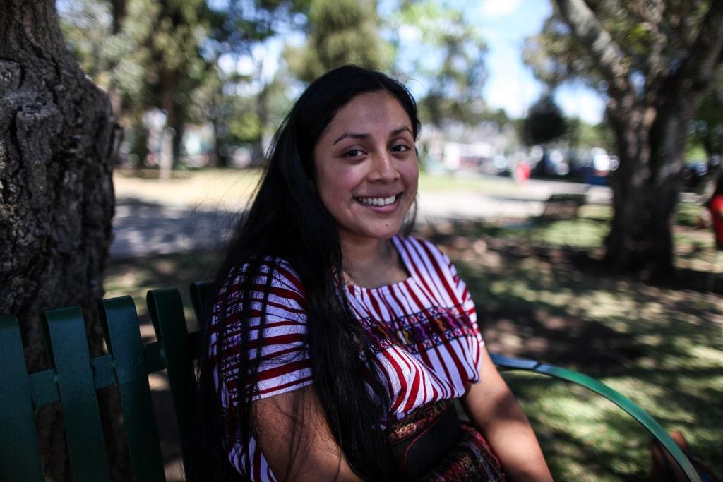 Lesly Curup es líder Kaqchiquel y es originaria de San Juan Sacatepéquez. Foto: Carlos Sebastián