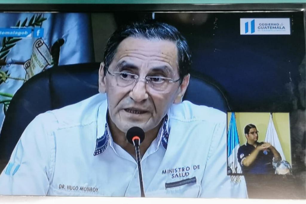 Hugo Monroy, ministro de Salud, anunció que falleció una persona contagiada por coronavirus.