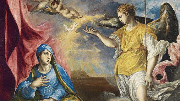 """""""La Anunciación"""". El Greco. 1576."""